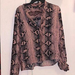 Topshop snake print blouse